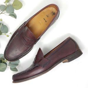 ALLEN EDMONDS Paxton Penny Loafer Shoes 14D